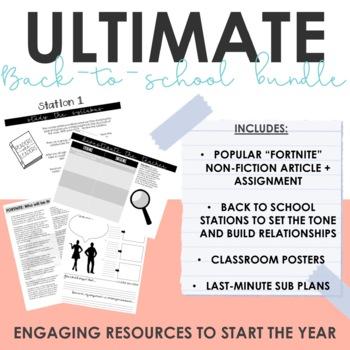 Ultimate Back to School Bundle for ELA