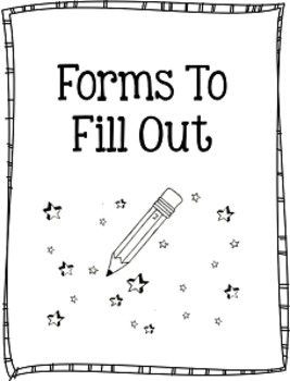 Ultimate Back to School Forms to Fill Out {Editable}