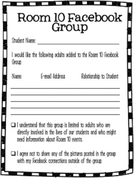 Ultimate Back to School Night / Open House Forms to Fill Out {Editable}