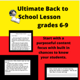 Ultimate Back to School Lesson Grades 6-9, Academic focus