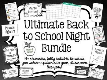 Ultimate Back to School Night/Open House Bundle {Editable}