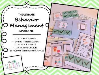 Behavior Management Pack: First/Then boards and token boards