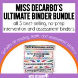 Ultimate Binder Bundle: No Prep Reading and Math Intervent