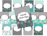 Ultimate Binder: Turquoise and Gray Theme