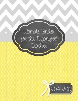 Ultimate Binder for the Organized Teacher for 2014-2015! (