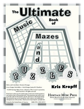 Ultimate Book of Music Mazes and Puzzles - Instruments and Ensembles