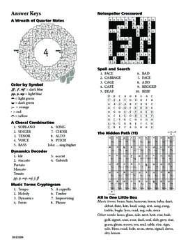 Ultimate Book of Music Mazes and Puzzles - Terms and Symbols