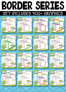 Ultimate Border Graphic Series Clipart Set – Over 400 Graphics!