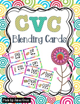 CVC and Word Family Word Work Blending Cards
