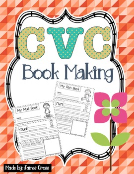 CVC and Word Family Word Work Book Making