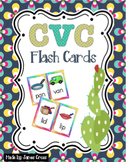 CVC and Word Family Word Work Flashcards