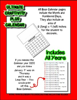 Ultimate Calendar Craftivity Set - Holiday gift - 700 + Pages
