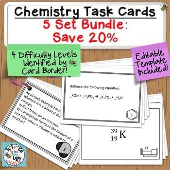 Ultimate Chemistry Task Cards Bundle: 5 Sets, 300 Cards!