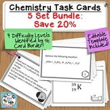 Ultimate Chemistry Task Cards Bundle: 5 Sets, 300 Cards!