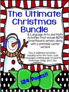 Ultimate Christmas Bundle - SMARTboard and printables!