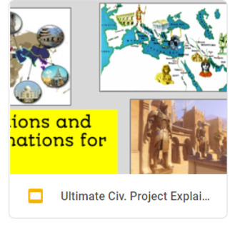 Ultimate Civilizations Incredible 10 day or more Activity!
