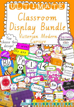 Ultimate Classroom Display Bundle - Victorian Modern Cursive