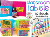 Ultimate Classroom Labels {bright watercolor style}