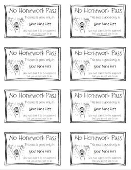 Ultimate Classroom Pass Collection for Middle and High School – Customizable!