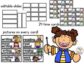 Ultimate Classroom Schedule Cards
