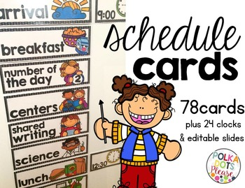 Ultimate Classroom Schedule Cards
