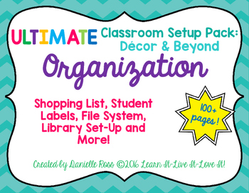 Ultimate Classroom Set Up: Decor & Beyond ORGANIZATION