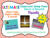 Ultimate Classroom Set Up: Decor & Beyond VISUALS