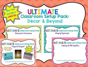 Ultimate Classroom Set Up: Decor & Beyond THE COMPLETE BUNDLE