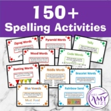 Spelling Activities for any list! Task Cards and PowerPoint
