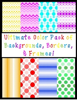 Ultimate Color Pack of Backgrounds, Borders, and Frames (120 total!)