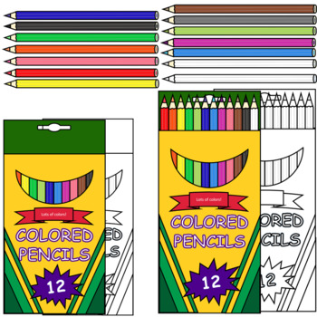 Ultimate Colored Pencils, Markers and Chalk Clipart