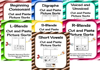 Cut and Paste Ultimate Pictue Sort Collection Phonics/Phon