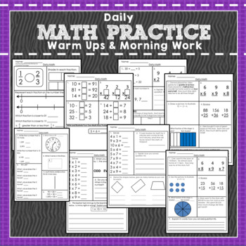 Daily Math Practice: 180 pages