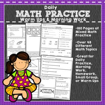 Ultimate Daily Math Practice: 180 pages