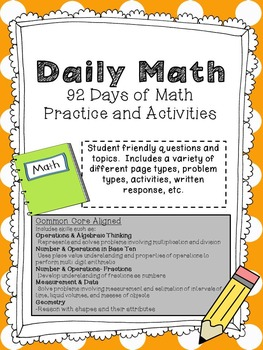 Ultimate Daily Math Practice Half Year First Bundle: 92 Pages