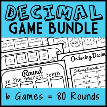 Ultimate Decimal Game Bundle!  84 Different Number Sorts! Great for Centers!