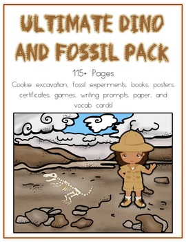 Ultimate Dinosaur & Fossil Pack Cookie Dig Paleontologist Research Writing &More