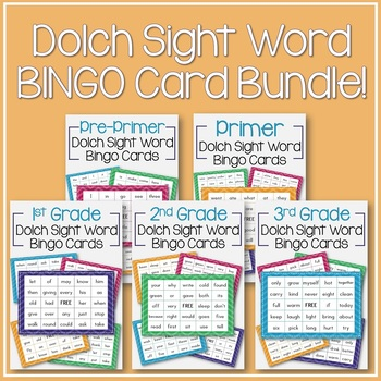 Ultimate Dolch Sight Word BINGO Pack