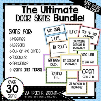 Ultimate Door Signs Bundle 1 – Tribal Design Soft Colors