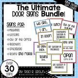 Ultimate Door Signs Bundle 1 – Tribal Design Soft Colors
