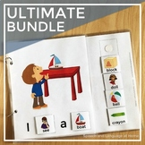 AAC Core Vocabulary Books   Interactive Books for Speech Therapy (Sign Language)