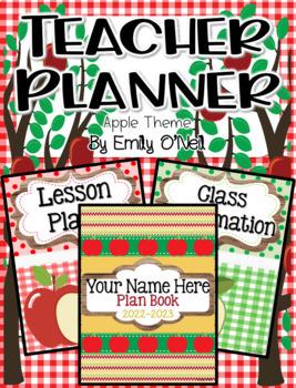 Ultimate Editable Teacher Planner (Apple Theme)