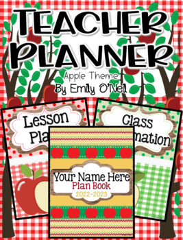 Ultimate Editable Teacher Planner (Apple Theme)