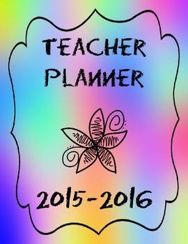 Ultimate FIVE Subject Teacher Binder/Planner 2015-2016