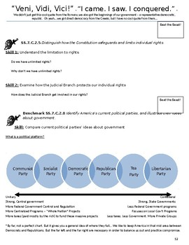 Civics: Ultimate FL EOC Review Packet