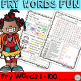 FRY Words Fun! (1-100) Activities