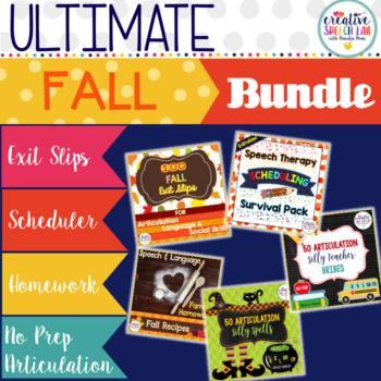 Ultimate Fall Speech and Language Bundle