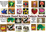 Ultimate Felt Hand Sewing Patterns Bundle Set with 17 patterns