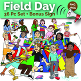 Ultimate Field Day Clip Art - Health and Physical Education - 36 Piece PNG, JPEG