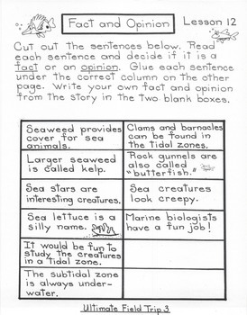 Ultimate Field Trip 3  5th Grade Harcourt Storytown Lesson 12